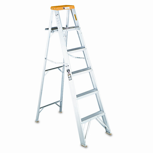 DAVIDSON LADDER, INC.                              8 ft Aluminum Louisville Folding Step Ladder with 225 lb. Load Capacity