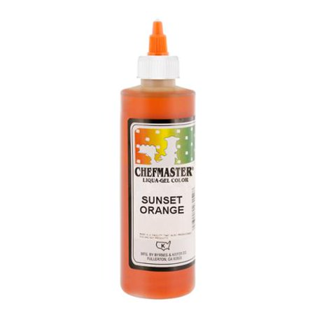 Chefmaster by US Cake Supply 10.5oz Sunset Orange Liqua-Gel Cake Food Coloring](Make Halloween Orange Food Coloring)
