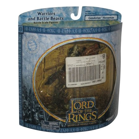 Lord of The Rings Warriors and Battle Gondorian Horseman w/ Rearing Horse Toy (39lrd Battle Ring)