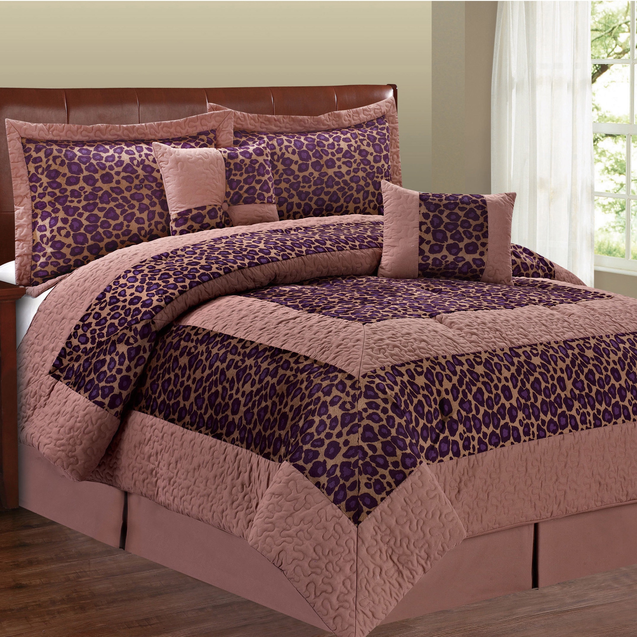 BNF Home Serenta Cheetah Design 6-piece Comforter Set