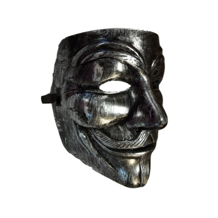Brushed Silver Guy Fawkes Anonymous V for Vendetta Halloween Costume Mask - V Is For Vendetta Mask