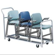 Folding/Stacked Chair Cart, 300 lb. Load Capacity, Holds 32 Chairs, 630