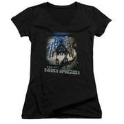 Stargate SG1 Menace Juniors V-Neck Shirt