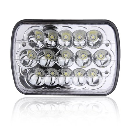 1PC 7X6 5X7 INCH Rectangular Sealed Beam LED Headlights Jeep Wrangler JK CJ TJ MJ YJ XJ Cherokee Freightliner International Peterbilt Mack H6052 H6053 H6054