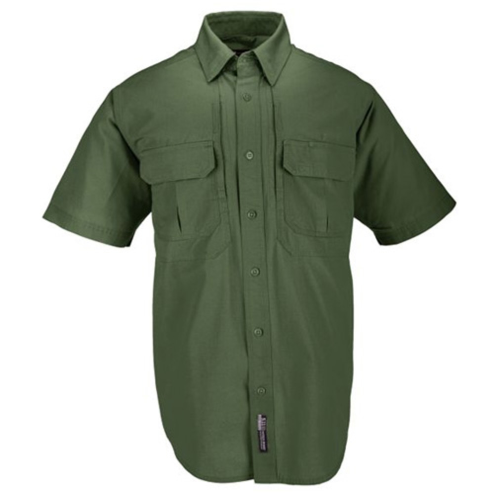Image of 5.11 #71152 Cotton Tactical Short Sleeve Shirt (OD Green, Large)