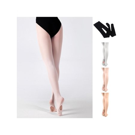 (Convertible Tights Dance Stocking Footed Socks Ballet Pantyhose for Kids Adults)
