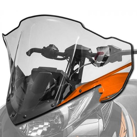 Arctic Cat Windshield - Arctic Cat New OEM Mid Clear Tinted Windshield Orange ZR XF M PTA BC, 7639-690
