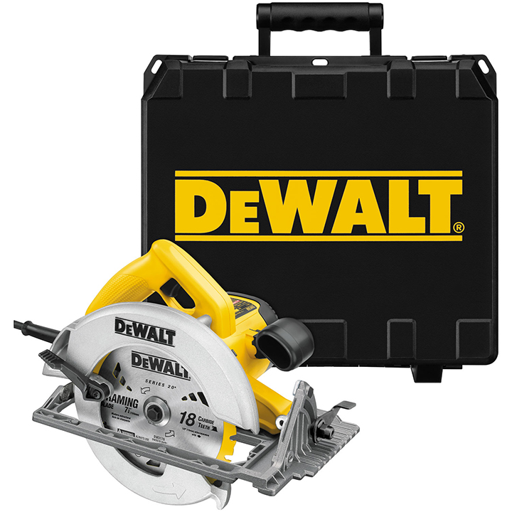 "DeWalt 7-1/4"" Lightweight circular saw w/ electric brake"