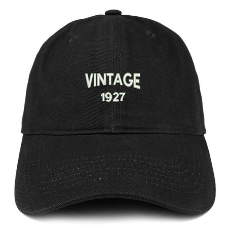 Trendy Apparel Shop Small Vintage 1927 Embroidered 91st Birthday Adjustable Cotton Cap