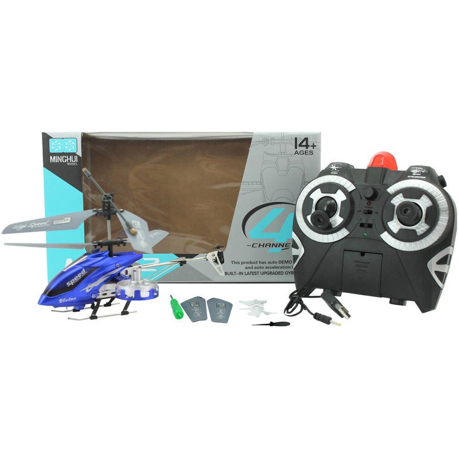 4 CH RC Helicopter Blue by Braha Industries Inc