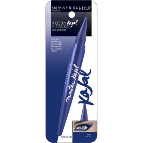 Maybelline Eye Studio Master Kajal Eyeliner, Navy Night, 0.053 Oz