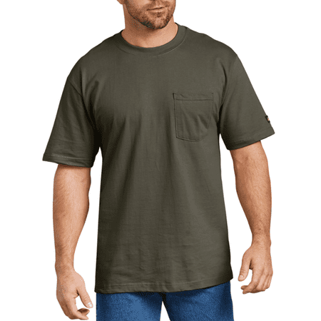 Genuine Dickies Men's and Big Men's Short Sleeve Heavy Weight Pocket T-Shirt, 2 Pack