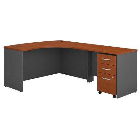 Series C Returns & Bundles 257 Lbs Weight Capacity Engineered Wood 60 W x 43 D Right Hand L-Desk with 3 Drawer Mobile Pedestal