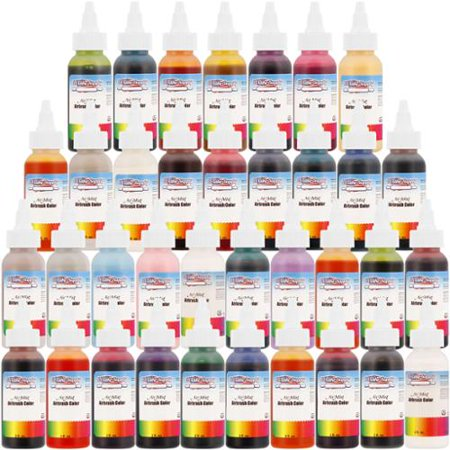 us cake supply air mist 36 color primary 2oz airbrush cake. Black Bedroom Furniture Sets. Home Design Ideas