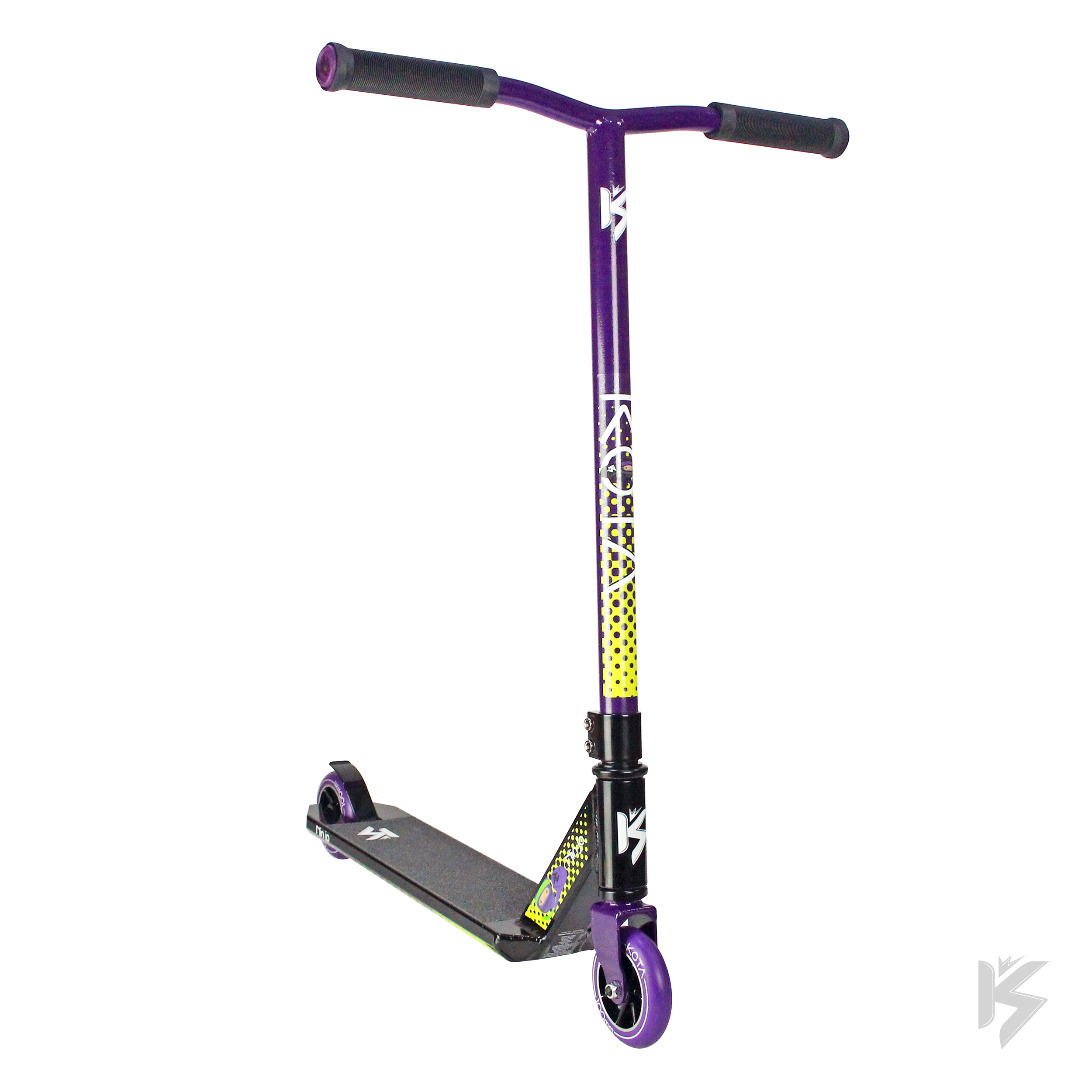 Kota Ninja Pro Scooter (Black Purple) by Kota Scooters