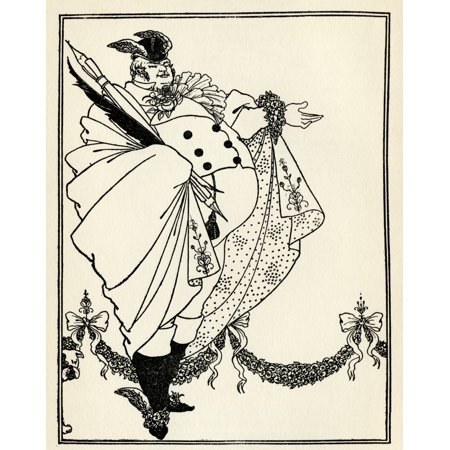 Design By Aubrey Vincent Beardsley 1872 To 1898 English Illustrator Of The Art Nouveau Era For The Contents Page Of The Savoy Volume 1 Canvas Art - Ken Welsh