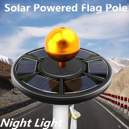 42 LED Solar Powered Flag Pole Night Light Powerful Super Bright Waterproof LED Downlight Night Outdoor For Most 15 to 25 Ft Flag Pole Black Downlight Path Lighting