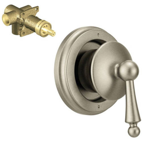 "Moen K-ts325-72wr Waterhill 3-Function Transfer Valve Trim with 1/2"" CC Rough-in, Available in Various Colors"