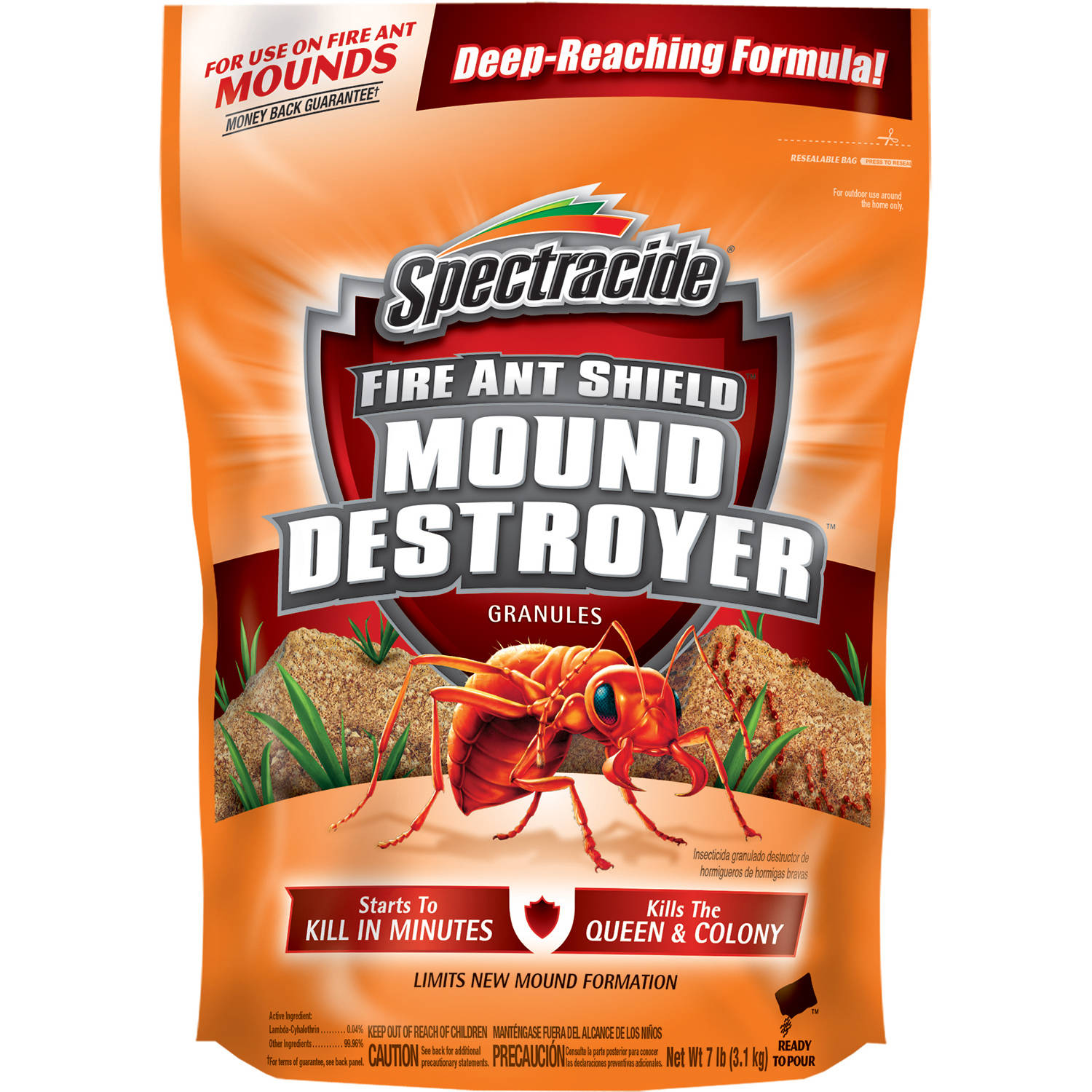 Spectracide Fire Ant Shield Mound Destroyer Granules, 7 lb
