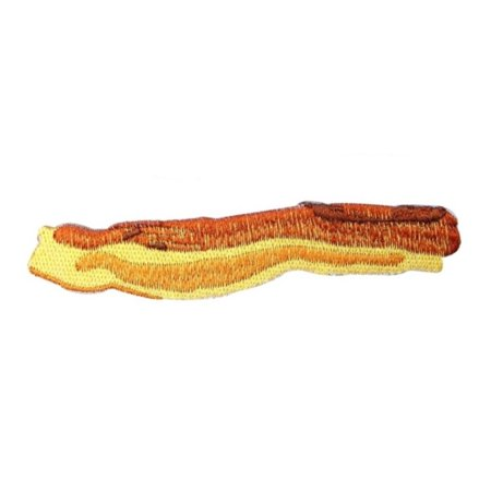 Bacon Strip Craft Patch Breakfast Food DIY Project Iron-On Applique
