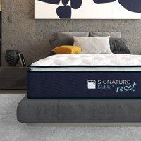 "Signature Sleep Reset 12"" Nanobionic Hybrid Mattress with Charcoal-Infused Gel Memory Foam"