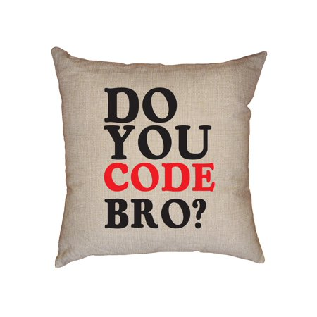 Bumblebee Linens Coupon Code (Funny Do You Code Bro Software Engineer Decorative Linen Throw Cushion Pillow Case with)