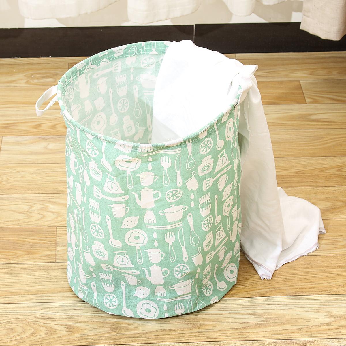 Dirty Clothes Storage Bag Basket Laundry Diamante Washing Bin Foldable Hamper