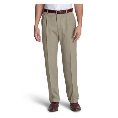 Eddie Bauer Men's Wool Gabardine Trousers - (Tropical Wool Trousers)