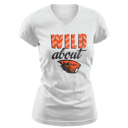 Oregon State Beavers Womens Essential V Neck T Shirt