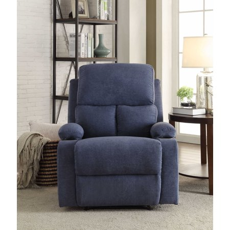 Recliner In Chocolate - Linen Fabric, Wood Frame, (Coffee Linen)