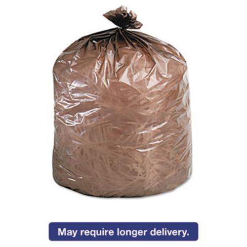 Essex EPM33BRN Linear Low-density Can Liner, 24 X 32, 15-gallon, .35 Mil, Brown, 500/case