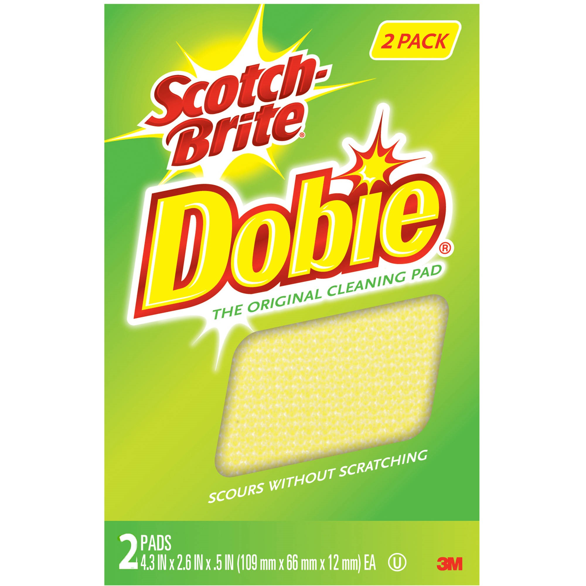 Scotch-Brite Dobie Cleaning Pad Twin Pack, 2 Pads per Pack