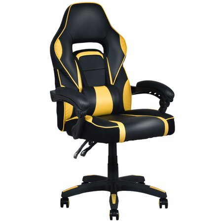 Costway Executive Racing Style Pu Leather Gaming Chair