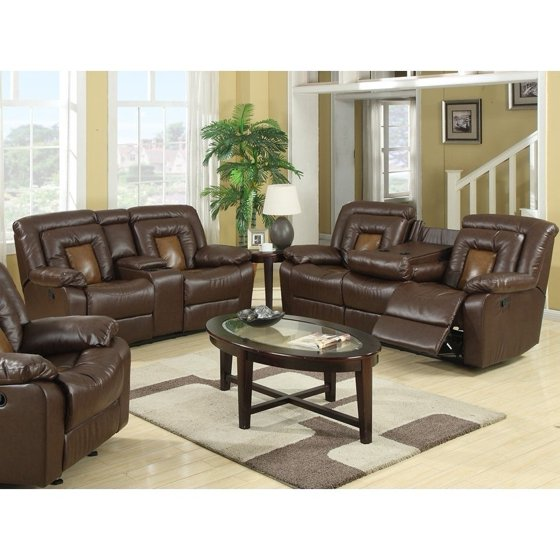 GTU Furniture Cobra Modern Transitional, Lever, Two-Toned Faux Leather  Reclining Sofa Loveseat, Sofás Reclinables Para Adultos