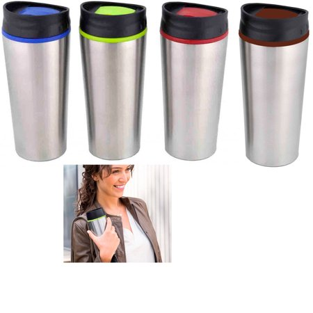 1 Stainless Steel Insulated Lock Lid Travel Coffee Mug Cup
