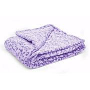 Your Zone Purple Leopard Fleece Throw, 1 Each