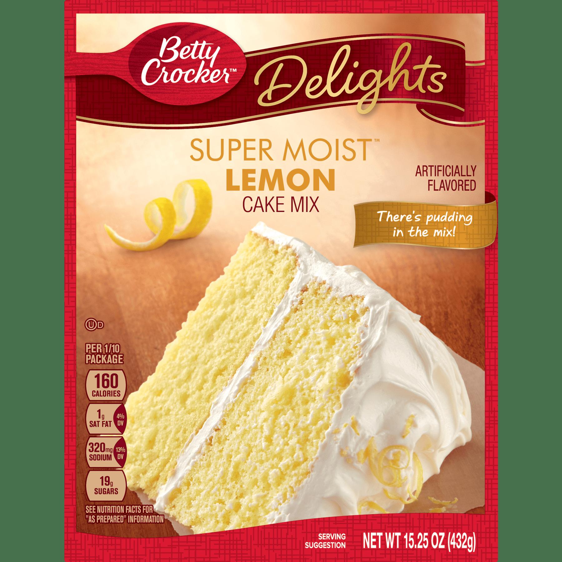 Betty Crocker Baking Mix Super Moist Cake Mix Lemon 1525 Oz Box
