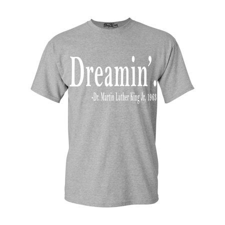 Shop4Ever Men's Dreamin'. Martin Luther King Jr., 1963 History Graphic T-shirt ()