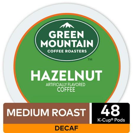 Green Mountain Coffee Decaf Hazelnut Keurig K-Cup Coffee Pods, Light Roast, 48 Count