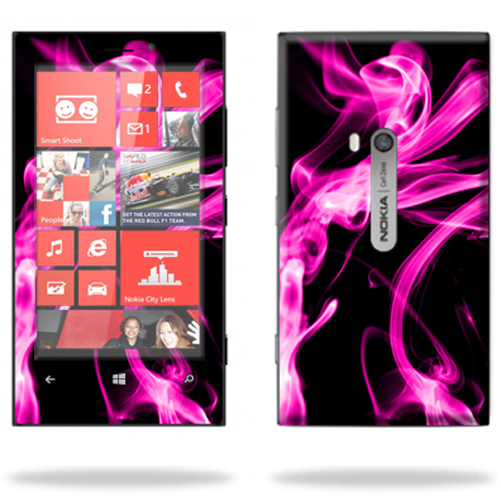Mightyskins Protective Skin Decal Cover for Nokia Lumia 920 Cell Phone AT&T wrap sticker skins Pink Flames