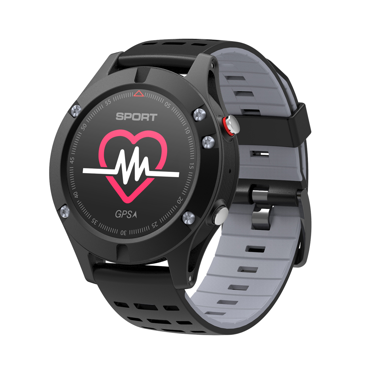 Diggro DB-05 GPS Smart Bracelet Altimeter Barometer Thermometer Color Heart Rate Call Message Reminder for iOS Android by