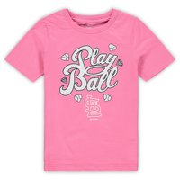 St. Louis Cardinals Youth Ball Girl T-Shirt - Pink