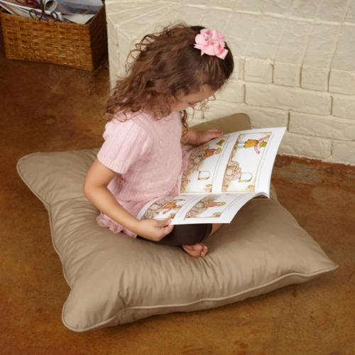Isabella 28-inch Floor Pillow Khaki