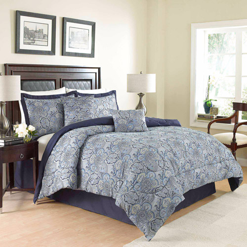 Traditions by Waverly Paddock Shawl 6-Piece Bedding Comforter Set, Porcelain