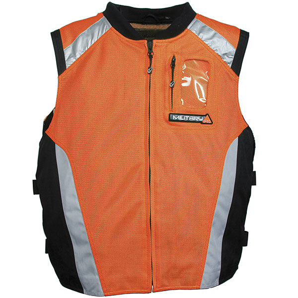 Joe Rocket Military Spec Mesh Vest Orange/Black/Silver