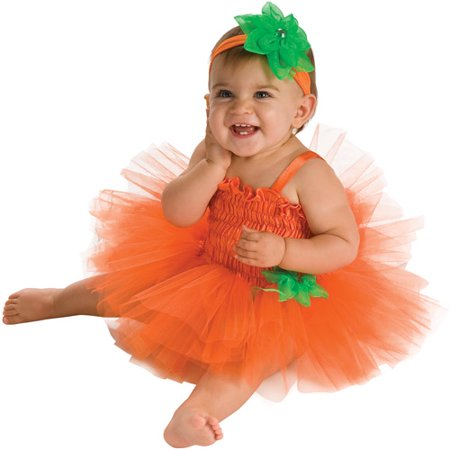 Baby Girl Halloween Costumes With Tutus (Rubies Pumpkin Tutu Infant Halloween)