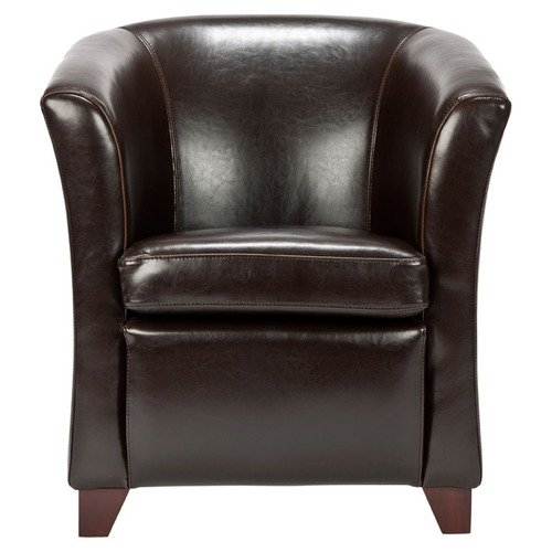 Upholstered Bicast Leather Club Chair
