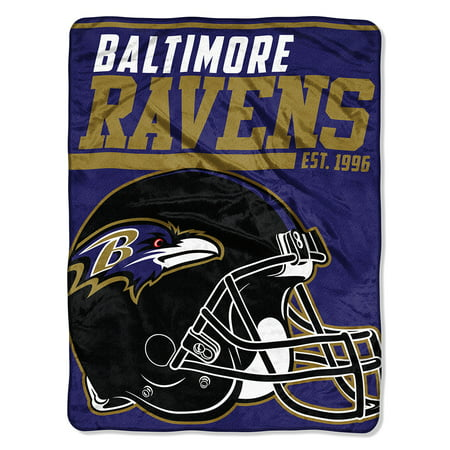 "NFL Baltimore Ravens ""40-Yard Dash"" 46""x 60"" Micro Raschel - Baltimore Ravens Room Decor"
