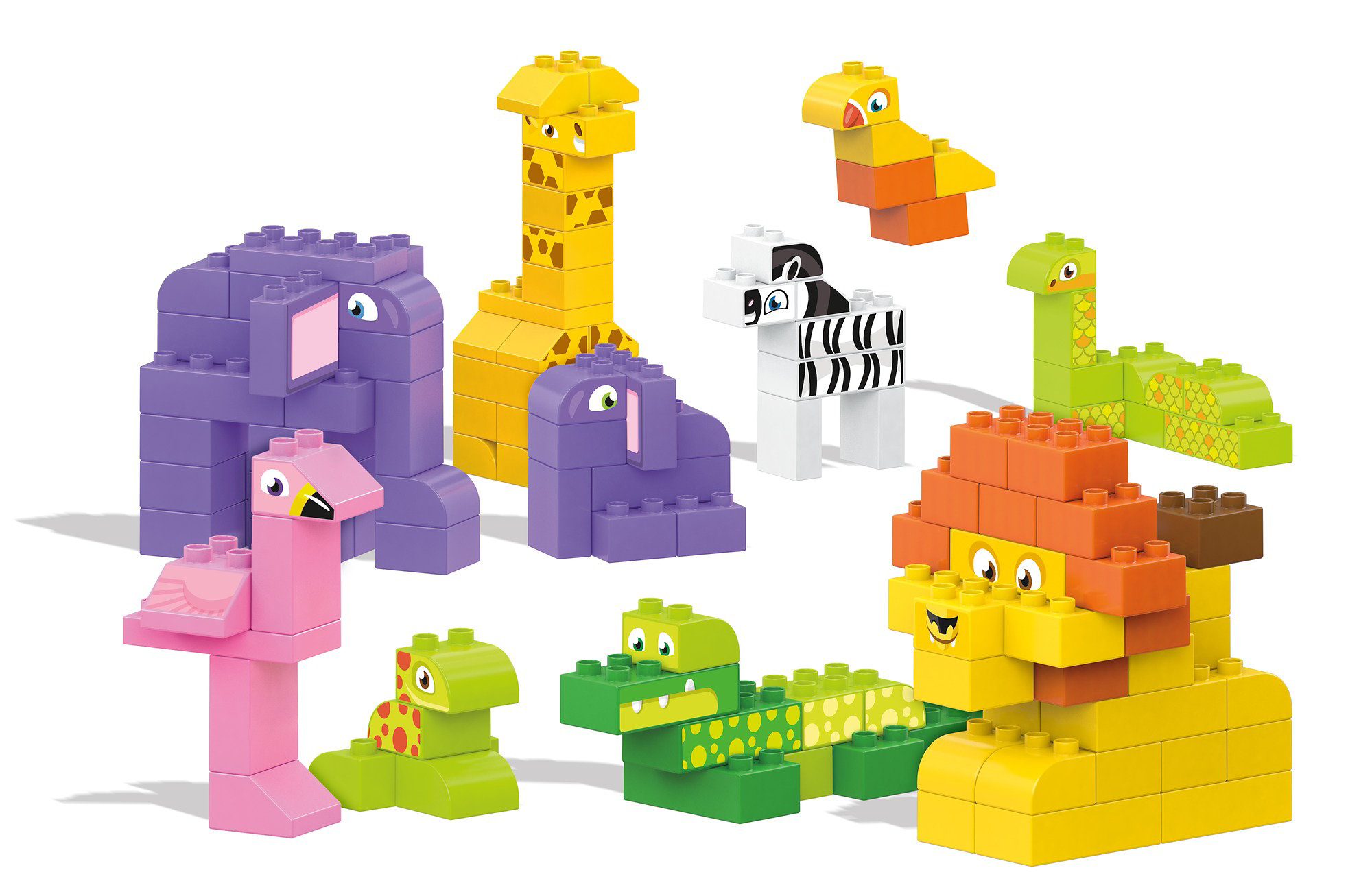 Mega Bloks My Safari Friends Building Blocks Building Kit by Mattel