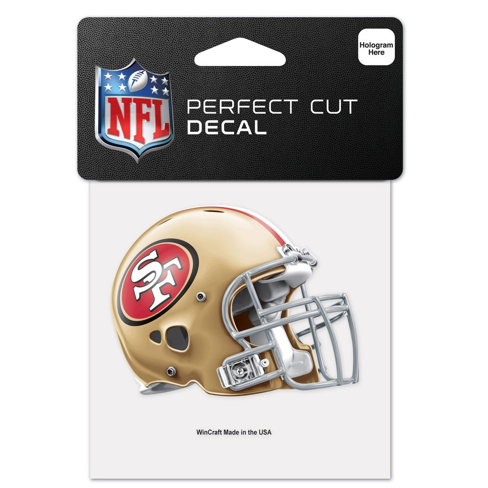San Francisco 49ers Official NFL 4 inch x 4 inch  Die Cut Car Decal by Wincraft